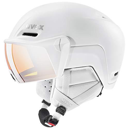 uvex Unisex– Erwachsene, hlmt 700 visor Skihelm, white mat, 59-61 cm