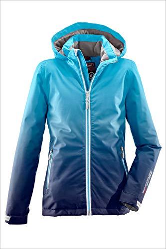Killtec Mädchen Grenda Jr Skijacke/Funktionsjacke Mit Kapuze Und Schneefang, 10.000 Mm Wassersäule, Wasserdicht, Türkis, 152