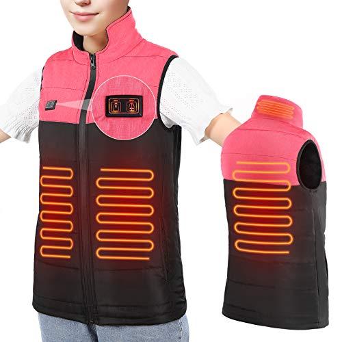 Haofy Beheizte Weste Leicht Beheizbare Weste für Damen Herren, USB Lade Elektrische Heizweste Waschbare Beheizbare Jacke mit 3 Temperatur Dual Kontrolle für Outdoor Tägliches Tragen Körperwärmer