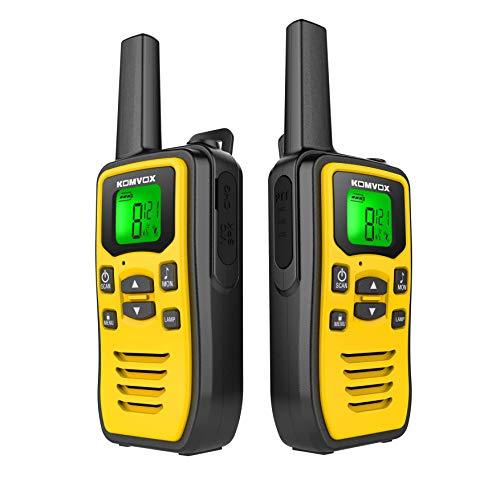 Aufladbare Scout Walkie Talkie Professional mit Taschenlampe für Erwachsene, Walky Talky Outdoor Funkgerät Set, Walki Talki Kinder Gesellschaftsspiel Geschenke ab 8 Jahre