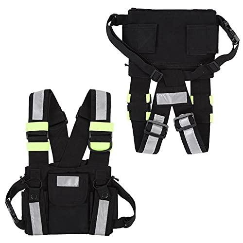 Gaeirt Brustgurt Front Pack, für Ski Patrol und Bergrettung Walkie-Talkie Weste zum Radfahren zum Wandern