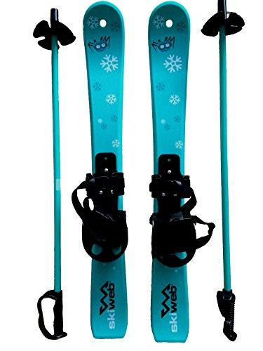 Kinder Skis mit Skistocken - Alter 2 - 4