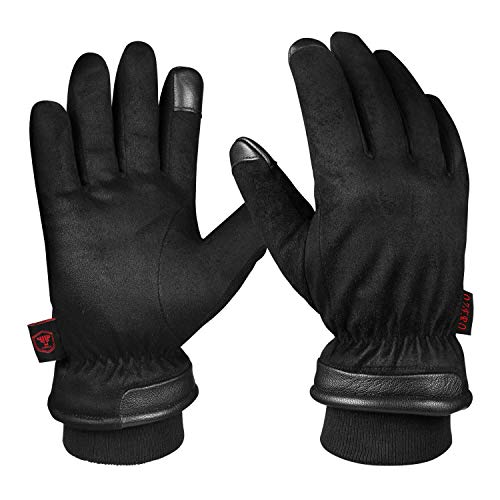 OZERO Winterhandschuhe,Wasserdicht Handschuhe Herren für Ski,Radfahren,Lauf,Motorrad,und Arbeit