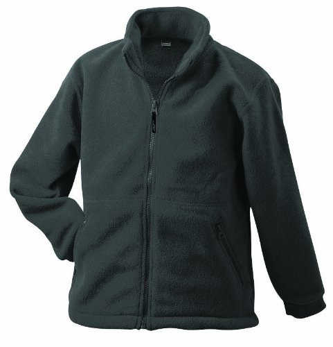 James & Nicholson Herren Full-Zip-Fleece Jacke, Grau (grau darkgrey), X-Large