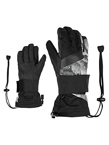 Ziener Kinder MIKKS AS(R) JUNIOR glove SB Snowboardhandschuhe Mit Protektor | Wasserdicht, Atmungsaktiv, grey mountain print, XS