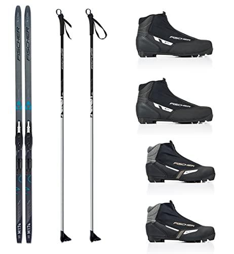 Langlauf Ski Set Cruising Fischer Jupiter Crown + Bdg + Schuhe XC Pro 2014/15 (189 Zentimeter, 44 Herren)