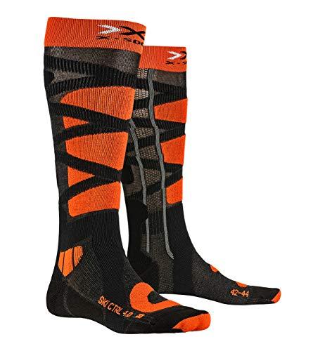X-Socks SKI Control 4.0 Socks, Anthracite Melange/x, 42/44