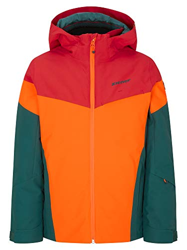 Ziener Jungen ATLA Junior Kinder Skijacke, Winterjacke | Wasserdicht, Winddicht, Warm, Spruce Green, 176