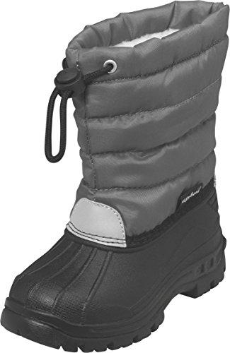 Playshoes gefütterte Kinder Winterstiefel, warme Schneestiefel mit Innenfutter , Grau (33 grau) , 24/25
