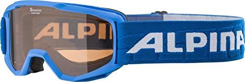 ALPINA Unisex - Kinder, PINEY Skibrille, blue, One size