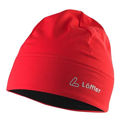 LÖFFLER Unisex Mono Tvl Mütze, rot, Einheitsgröße