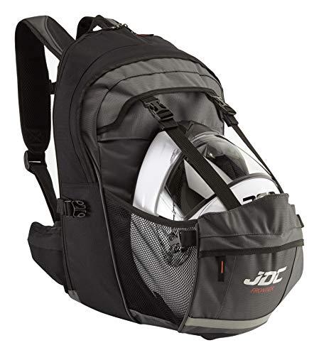 JDC Motorrad Rucksack Wasserdicht mit Helmhalterung/Träger 24Lerweiterbar bis 36L – Frontier