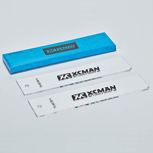 xcman Freeride Ski & Snowboard Boden Wachs Kunststoff Schaber 4mm Dicke (reinigen)