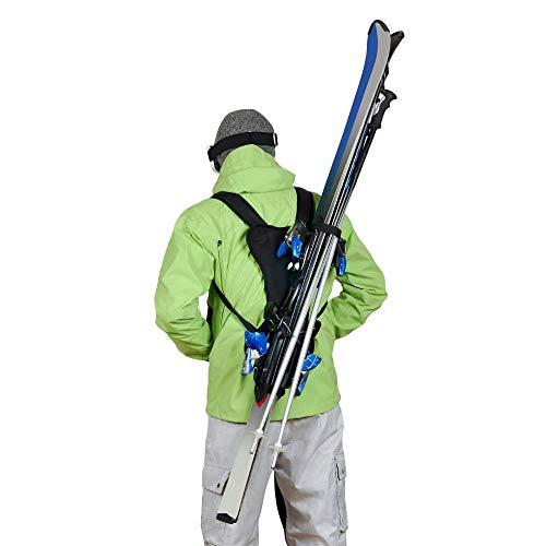 Wantalis - Skiback - Ein revolutionäres Produkt, um Ihre Ski freihändig zu tragen - Anpassbare und verstellbare Schultergurte