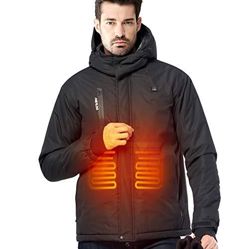 CONQUECO Beheizte Jacken Herren Elektrische Heizjacke