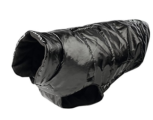 HUNTER Tampere Hundemantel, Wintermantel, gesteppt, wasserabweisend, wattiert, Fleecefutter, 30, schwarz