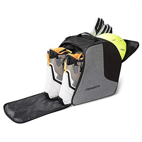 PENGDA Skischuhtasche Skistiefeltasche Extra große Umhängetasche mit Helmfach für Jacke, Helm, Schutzbrille, Handschuhe