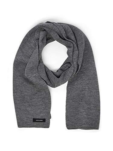 JACK & JONES Herren Schal JJDNA Knit Scarf NOOS, Grau (Grey Melange Grey Melange), ONE SIZE/