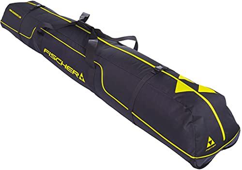 FISCHER Unisex– Erwachsene, schwarz/gelb, Skicase Alpine Race 3 Pair, 190 cm, 190cm