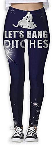 Monicago Sportswear-Strumpfhosen & Leggings für Damen, Let's Bang Ditches Funny Snowmobile Women's Active Stretch Footless High Waist Leggings Pants