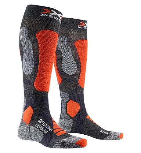 X-Socks SKI Touring Silver 4.0 Socks, Anthracite Melange/O, 42/44