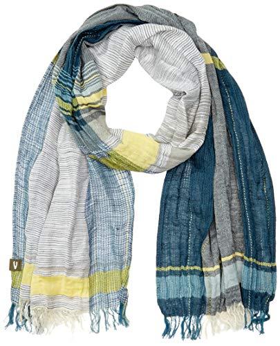 camel active Herren KARO Schal, Blau (Blue 43), One Size (Herstellergröße: OS)