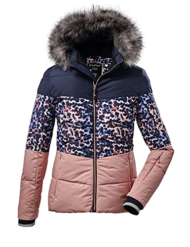 Killtec Mädchen Steppjacke/ Skijacke mit abzippbarer Kapuze und Schneefang - KSW 56 GRLS QLTD JCKT, rosenholz, 164, 37185-000