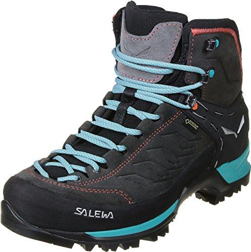 Salewa WS Mountain Trainer Mid Gore-TEX Damen Trekking- & Wanderstiefel, Grau (Magnet/Viridian Green), 41 EU
