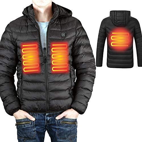 Zündapp beheizbare Jacke Heizjacke Akku Wärmejacke Akku-Heizjacke (L, ohne Powerbank)