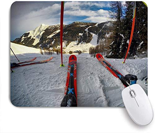Marutuki Gaming Mouse Pad Rutschfeste Gummibasis,Berg Schnee Winter Skisport Ski Abenteuer,für Computer Laptop Office Desk,240 x 200mm