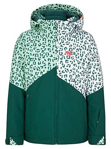 Ziener Mädchen Alani Junior Kinder Skijacke, Winterjacke | Wasserdicht, Winddicht, Warm, Spruce Green.White Leo, 164