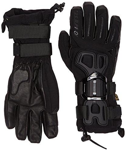 Dainese Erwachsene Skiprotektor D-Impact 13 D-Dry Gloves Snowboard Handschuhe mit Protektor, Schwarz/Carbon, L
