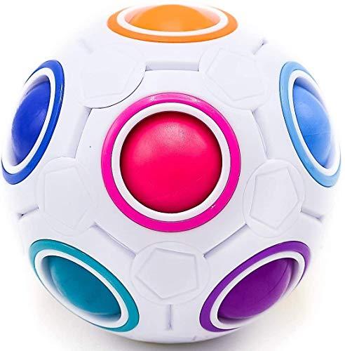 CUBIDI Original Regenbogenball - Geschicklichkeitsspiel - Spannendes Knobelspiel für Kinder und Erwachsene Mädchen und Jungen ab 6 Jahren