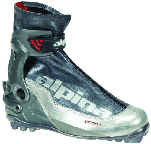 alpina SSK Sport Serie Langlauf Nordic Skate Ski Stiefel, Silver/Charcoal