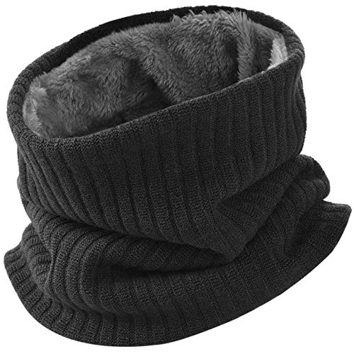 VBIGER Damen&Herren Winter Loop Schal Unisex Warmer Feinstrick Flecht Muster weichem Fleece Innenfutter Schlauchschal