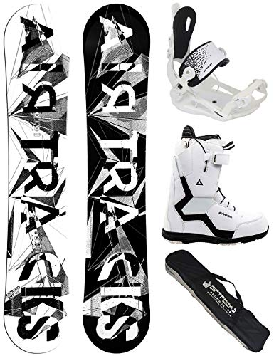 Airtracks Damen Snowboard Set/BWF Lady 140 + Snowboard Bindung Master + Snowboardboots Strong QL W 37 + Sb Bag