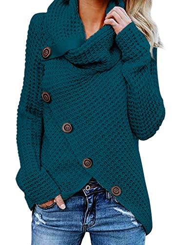 GOSOPIN Damen Pullover lose Pullis Langarm Oberteil Rollkragen Outwear S-XXL, #3, M