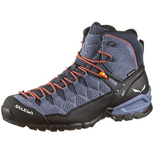 Salewa Herren MS Alp Trainer Mid Gore-TEX Trekking-& Wanderstiefel, Ombre Blue/Fluo Orange, 44 EU