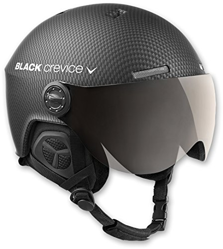 Black Crevice Unisex-Erwachsene Skihelm Arlberg, schwarz carbon, Gr. 58-61 CM (Herstellergröße:M/L)