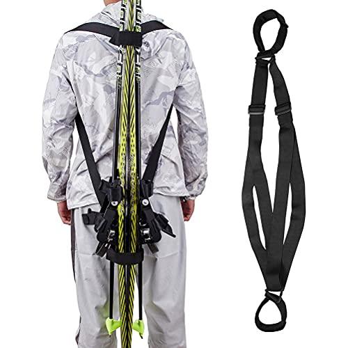 WINBST Ski Tote, Ski Tragegurt,Ski und Pole Rucksack Träger Ski und Pole Tragen Sling Strap Ski Schulter Gurt 38mm Riemen breit