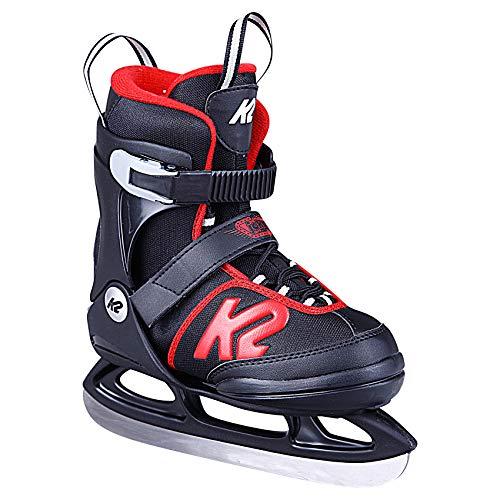 K2 Skates Jungen Schlittschuhe Joker Ice — black - red — EU: 32 - 37 (UK: 13 - 4 / US: 1 - 5) — 25D0303