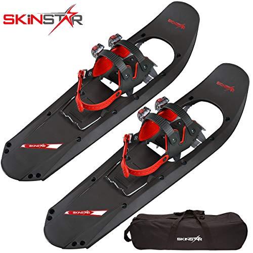 SkinStar Schneeschuh 29 INCH Schneeschuhwandern Schneeschuhe bis 130 kg inklusive Tragetasche - wahlweise mit oder ohne Stöcke