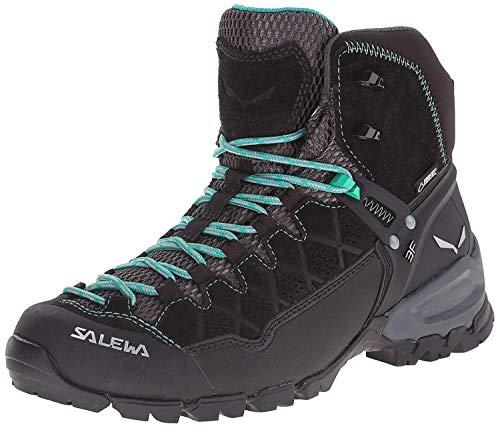 Salewa Damen WS Alp Trainer Mid Gore-TEX Trekking- & Wanderstiefel, Black Out/Agata, 40 EU