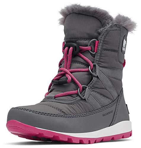 Sorel Kinder Youth Whitney Short Lace Kurzer Schnürstiefel, grau (quarry)/pink (ultra pink), Größe: 34