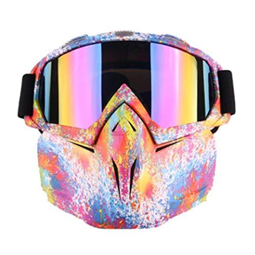 HBRT Motorradbrille Maske abnehmbare Mann kühle Sicherheit schützen Outdoor-Taktische Brille décor Sonnenbrillen-Helm Offroad Reiten Radfahren Skifahren Schneemobil,smallflower