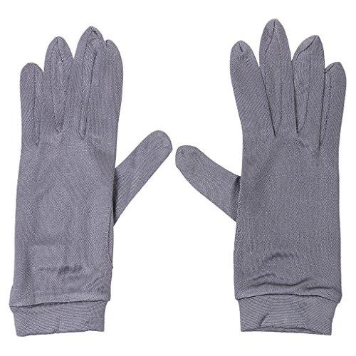 Bonarty Damen 100% Seidenhandschuhe Liner Winter Warm Skifahren Fahren Innenhandschuhe - Dunkelgrau