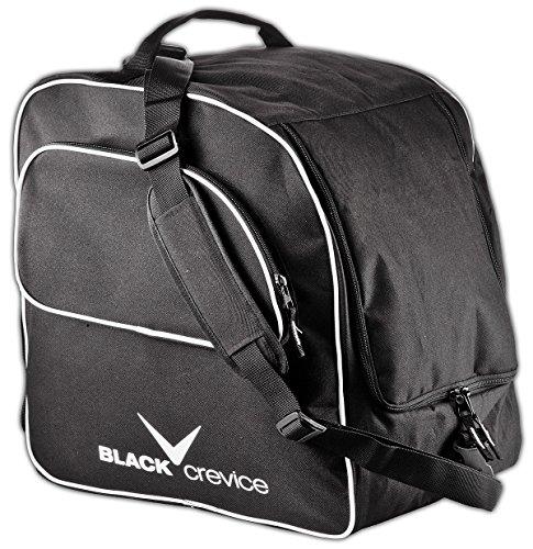 Black Crevice Skischuh- & Helmtasche I Tasche für Snowboardschuhe/Skischuhe & Helme I Verstellbare Skischuhe-Tasche mit großem Hauptfach & Nebenfach mit Reißverschluss I Maße: 42x47x30cm