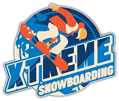 SkyBug Freeride Snowboarder In Motion Bumper Sticker Vinyl Art Decal for Car Truck Van Wall Window (24 X 20 cm)