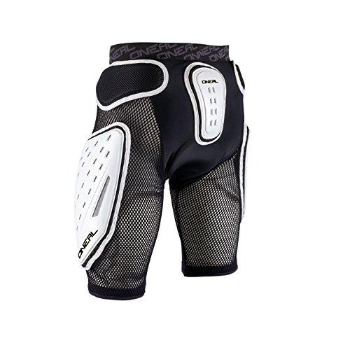 O'NEAL | Protektoren-Hose | Motocross Enduro Motorrad | High-Density Eva Schaum, Integrierte Belüftungspads, elastischer Taillenbereich | Kamikaze Short | Erwachsene | Schwarz Weiß | Größe S