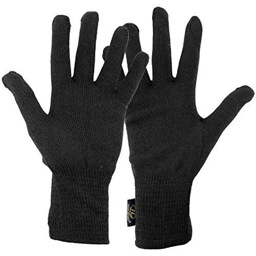 Highlander Erwachsene Innenhandschuhe Thermo Handschuhe, Schwarz, One size